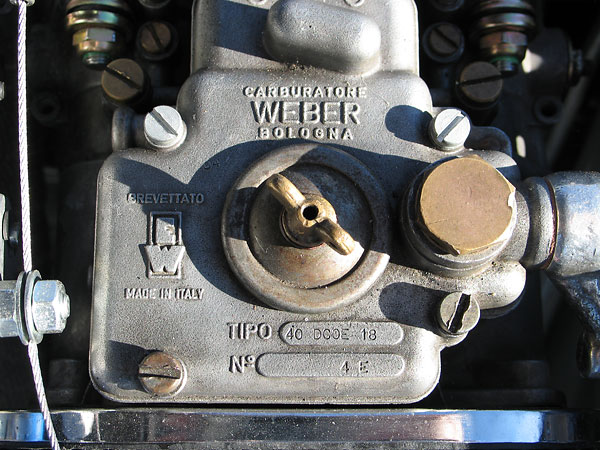 Carburatore WEBER Bologna, Brevettato Made in Italy, Tipo: 40 DCOE 18, No. 4E