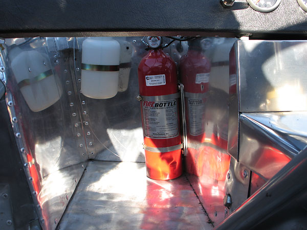 FireBottle (Dupont FE-36) centralized fire extinguisher system.